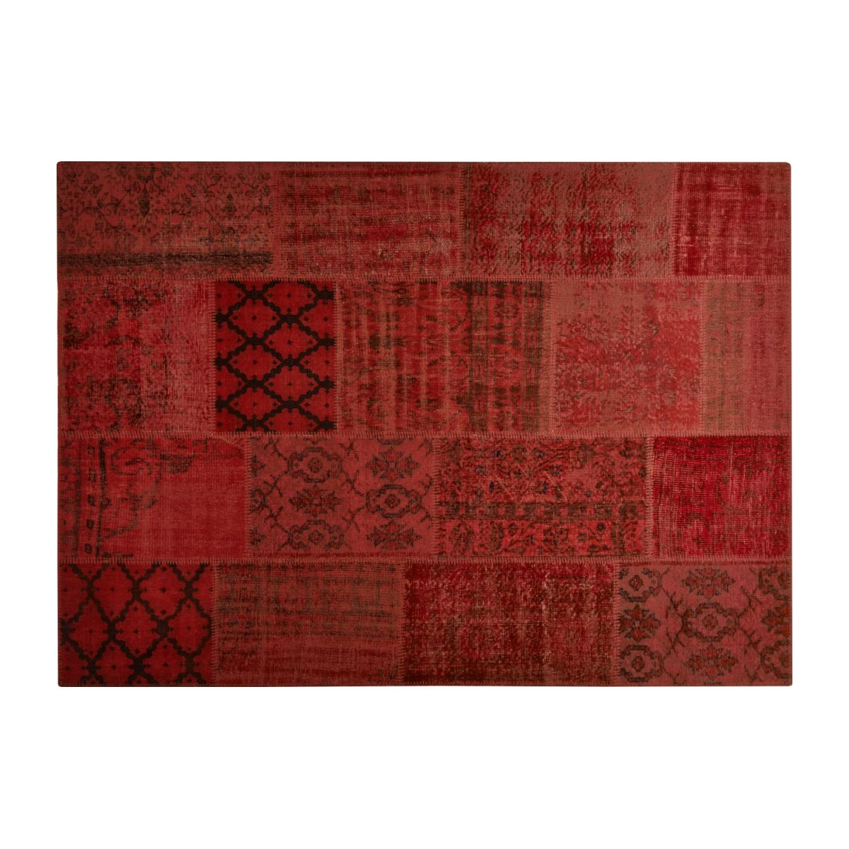 Tapis patchwork rouge n°3