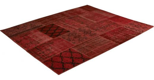 Burling Tapis Patchwork Rouge Habitat