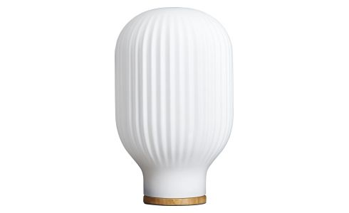 Lampe de table 32cm en verre blanc