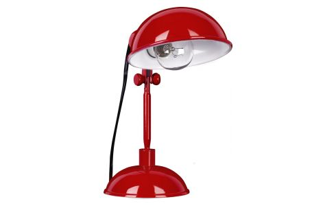 Red carmine desk lamp