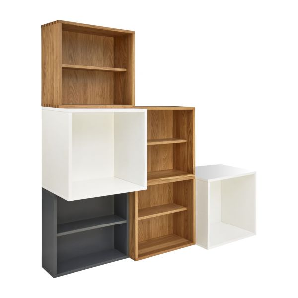 brick tag res et biblioth ques blanc bois habitat. Black Bedroom Furniture Sets. Home Design Ideas