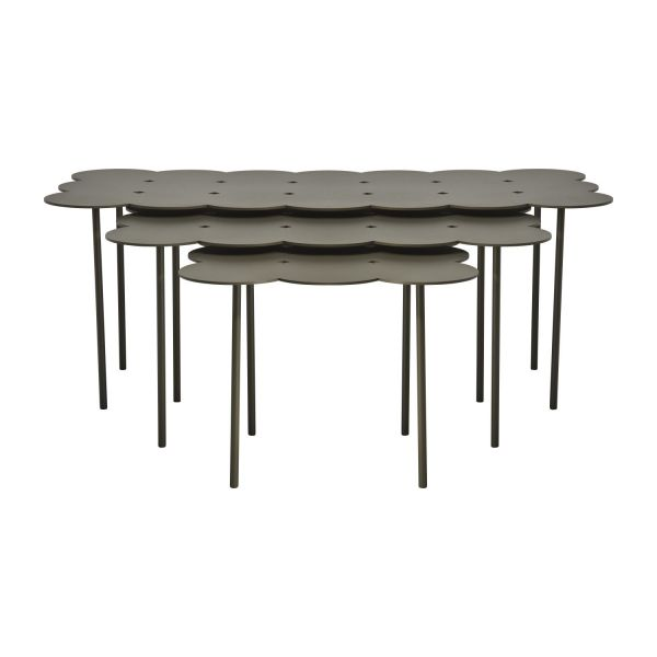 Biscuit tables gigognes taupes habitat - Table gigogne habitat ...
