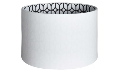 White black printed lampshade 17,5x25cm