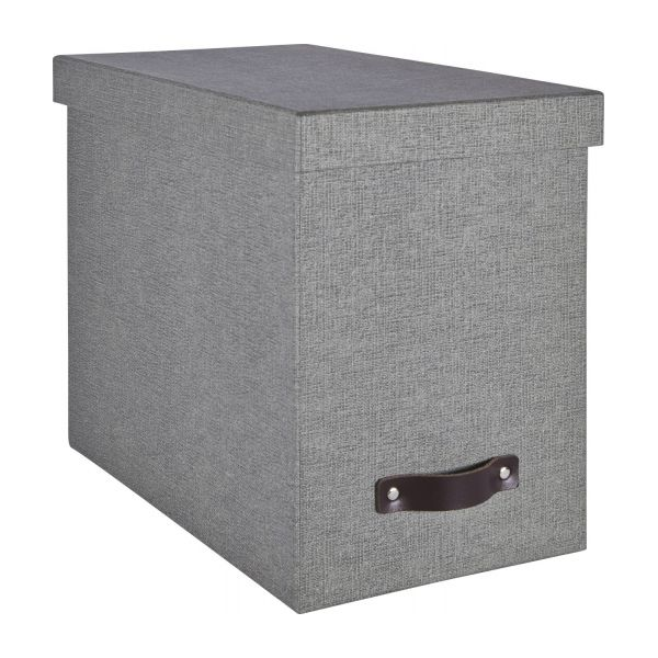 come rangements gris cuir carton habitat. Black Bedroom Furniture Sets. Home Design Ideas