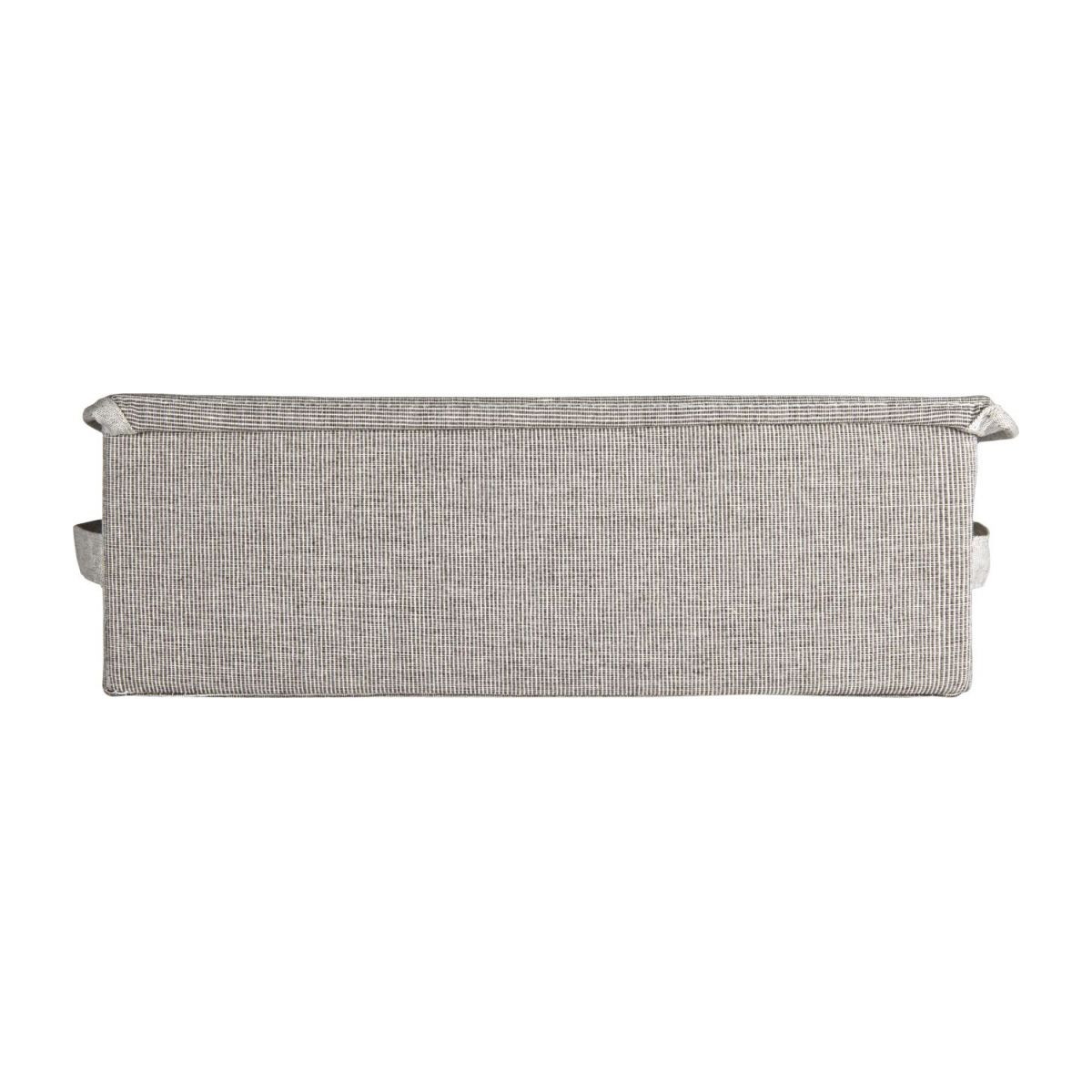 Small Storage basket, grey fabric and bamboo n°4