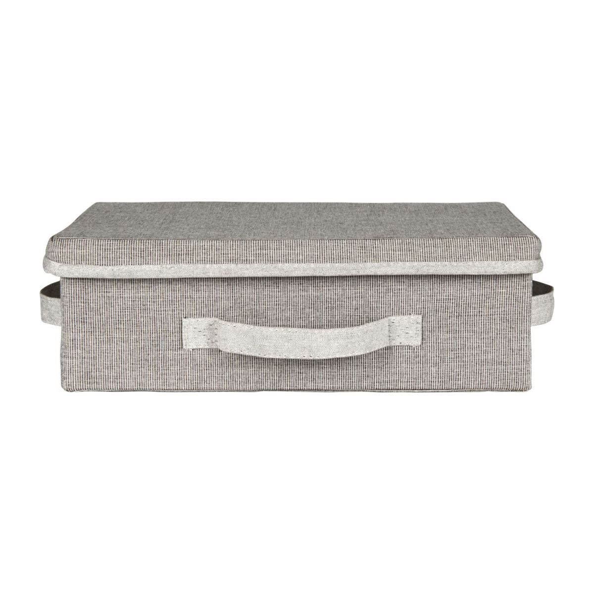 Small Storage basket, grey fabric and bamboo n°2