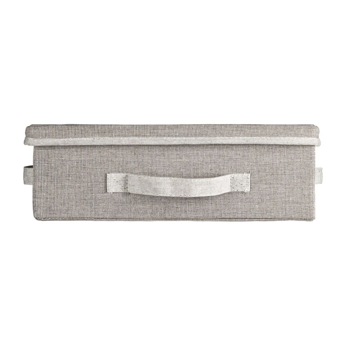 Small Storage basket, grey fabric and bamboo n°3