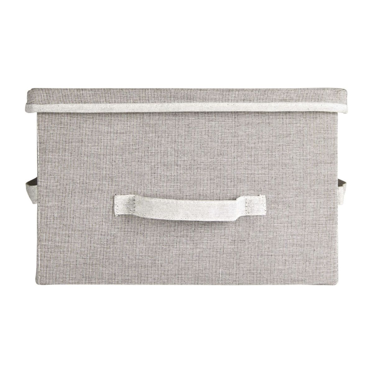 Large Storage basket, grey fabric and bamboo n°3
