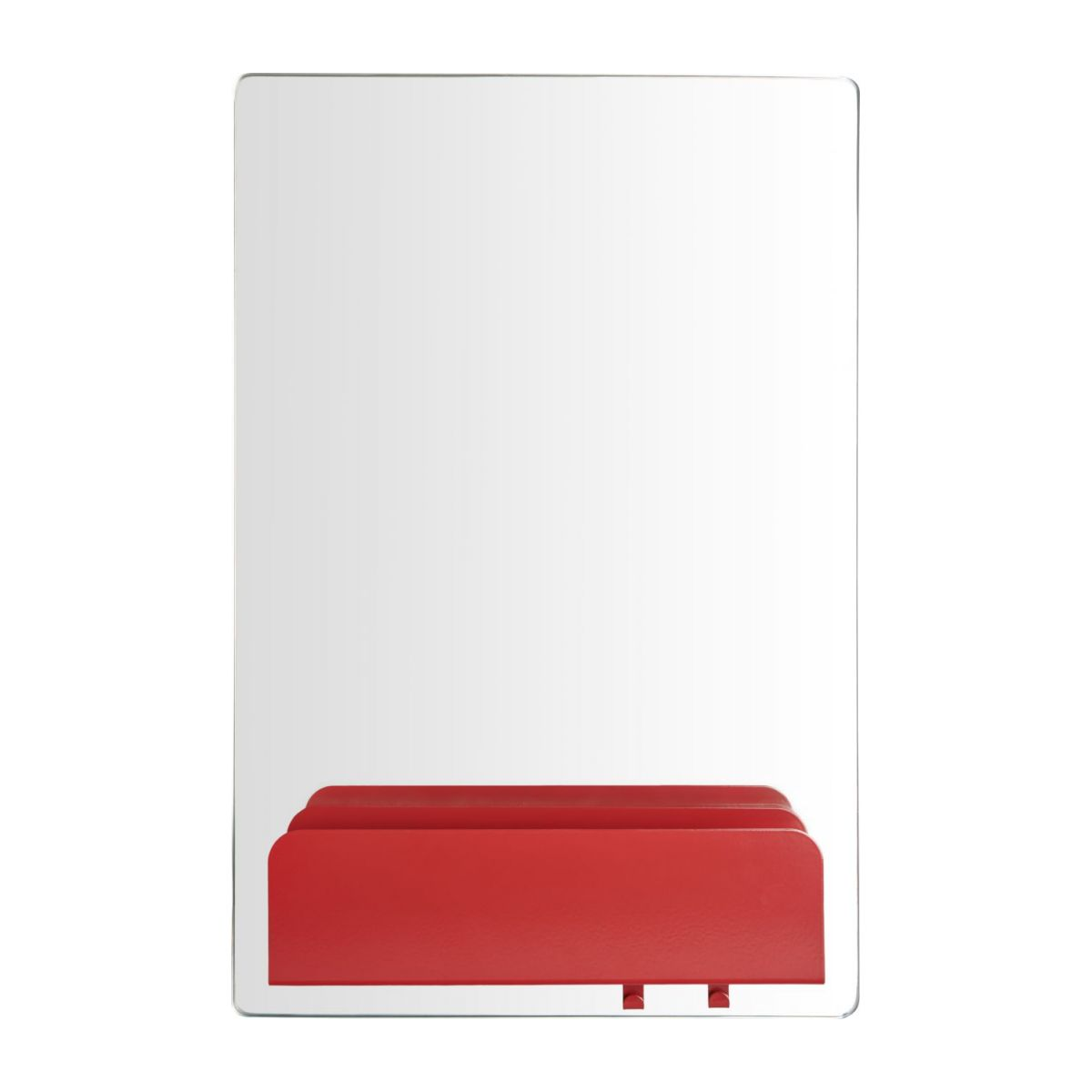 a mirror with a shelf and hooks n°2