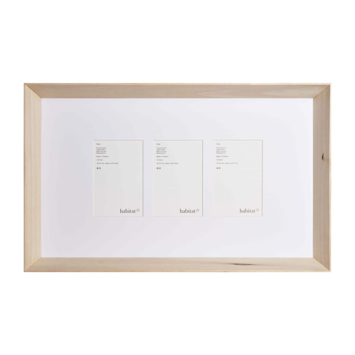 Wooden photo frame 3*10x15 n°3