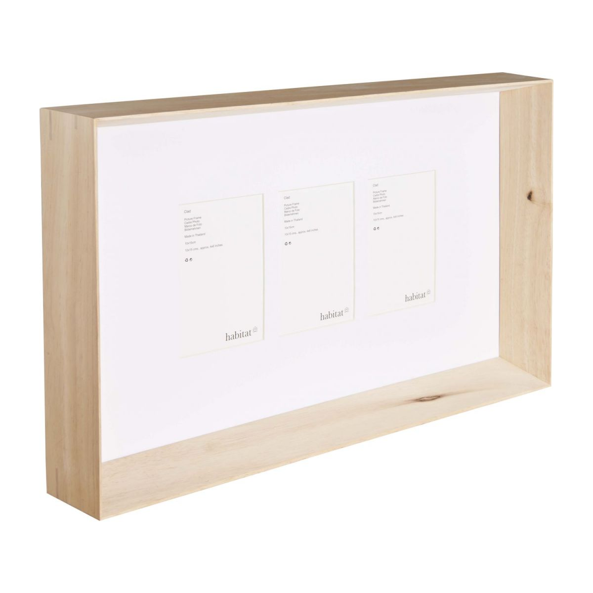 Wooden photo frame 3*10x15 n°1