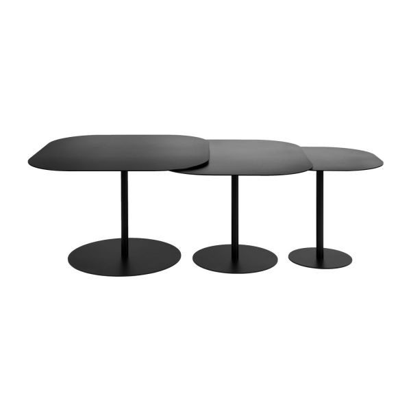 galets tables basses noir m tal habitat. Black Bedroom Furniture Sets. Home Design Ideas