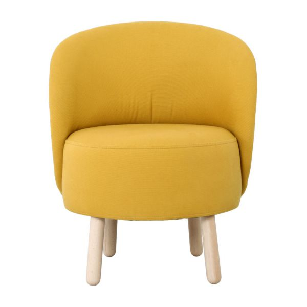 bold fauteuils fauteuil jaune moutarde tissu habitat. Black Bedroom Furniture Sets. Home Design Ideas