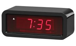Holographic black Alarm clock