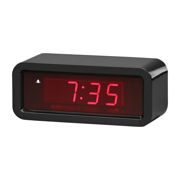 clark holographic black alarm clock habitat. Black Bedroom Furniture Sets. Home Design Ideas