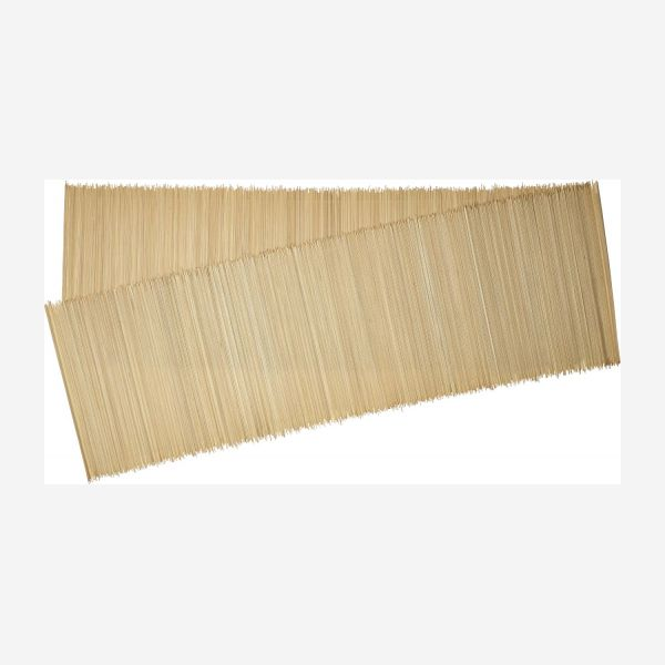 Natural bamboo table runner 33x200cm