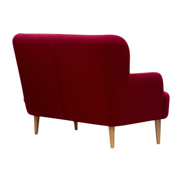 Wilbo canap s canap 2 places rouge tissu habitat for Canape 2 places en tissu