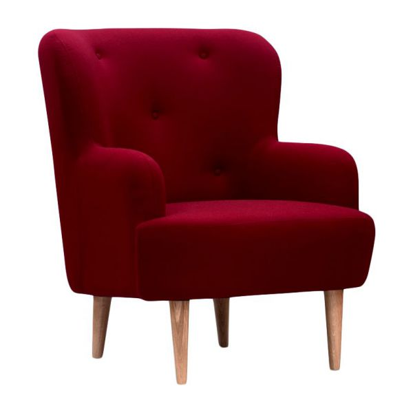 wilbo fauteuils fauteuil rouge tissu habitat. Black Bedroom Furniture Sets. Home Design Ideas