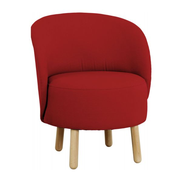 bold fauteuils fauteuil rouge tissu habitat. Black Bedroom Furniture Sets. Home Design Ideas