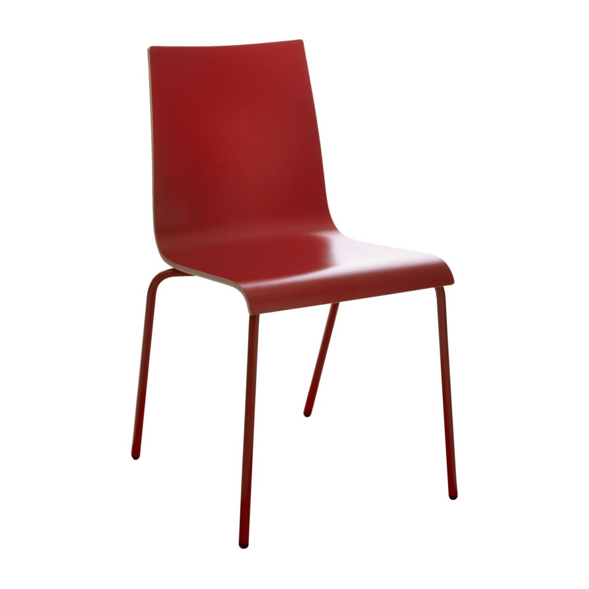 callum chaises de salle manger rouge bois habitat. Black Bedroom Furniture Sets. Home Design Ideas