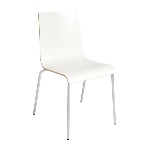 callum chaises de salle manger blanc bois m lamine habitat. Black Bedroom Furniture Sets. Home Design Ideas