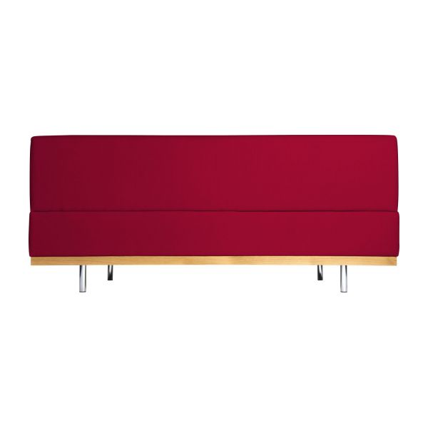 Fifties canap s canap 3 places rouge tissu habitat for Canape hauteur assise 60