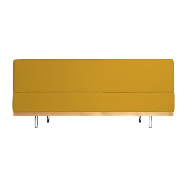 Fifties canap s canap 3 places convertible jaune moutarde for Canape hauteur assise 60
