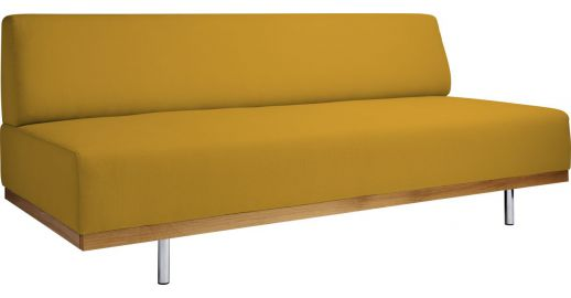 fifties canap s canap 3 places convertible jaune moutarde tissu habitat. Black Bedroom Furniture Sets. Home Design Ideas
