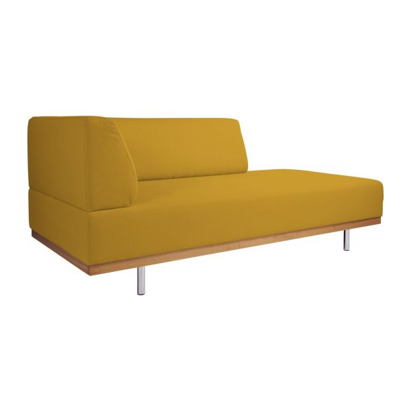 Fifties m ridiennes m ridienne jaune moutarde tissu habitat for Banquette meridienne design