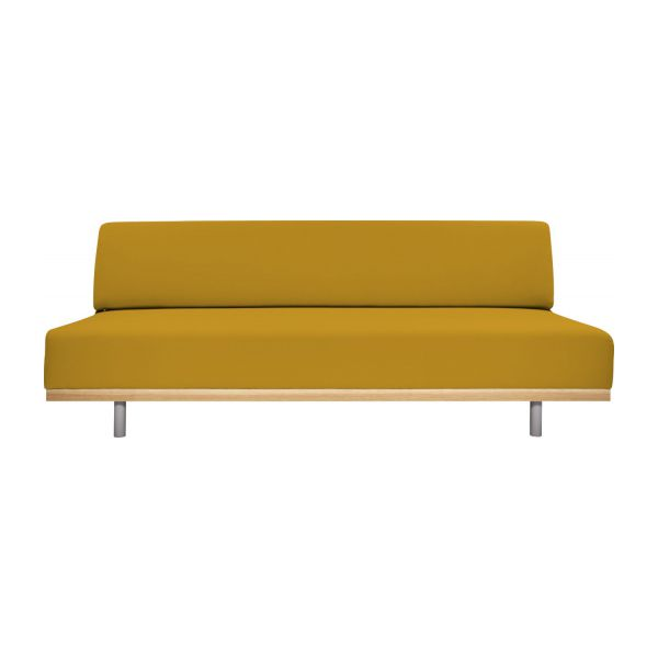 fifties canap s canap 3 places convertible jaune moutarde. Black Bedroom Furniture Sets. Home Design Ideas