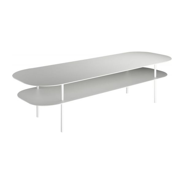 Table Basse Metal Blanc.Coline Metal Coffee Table