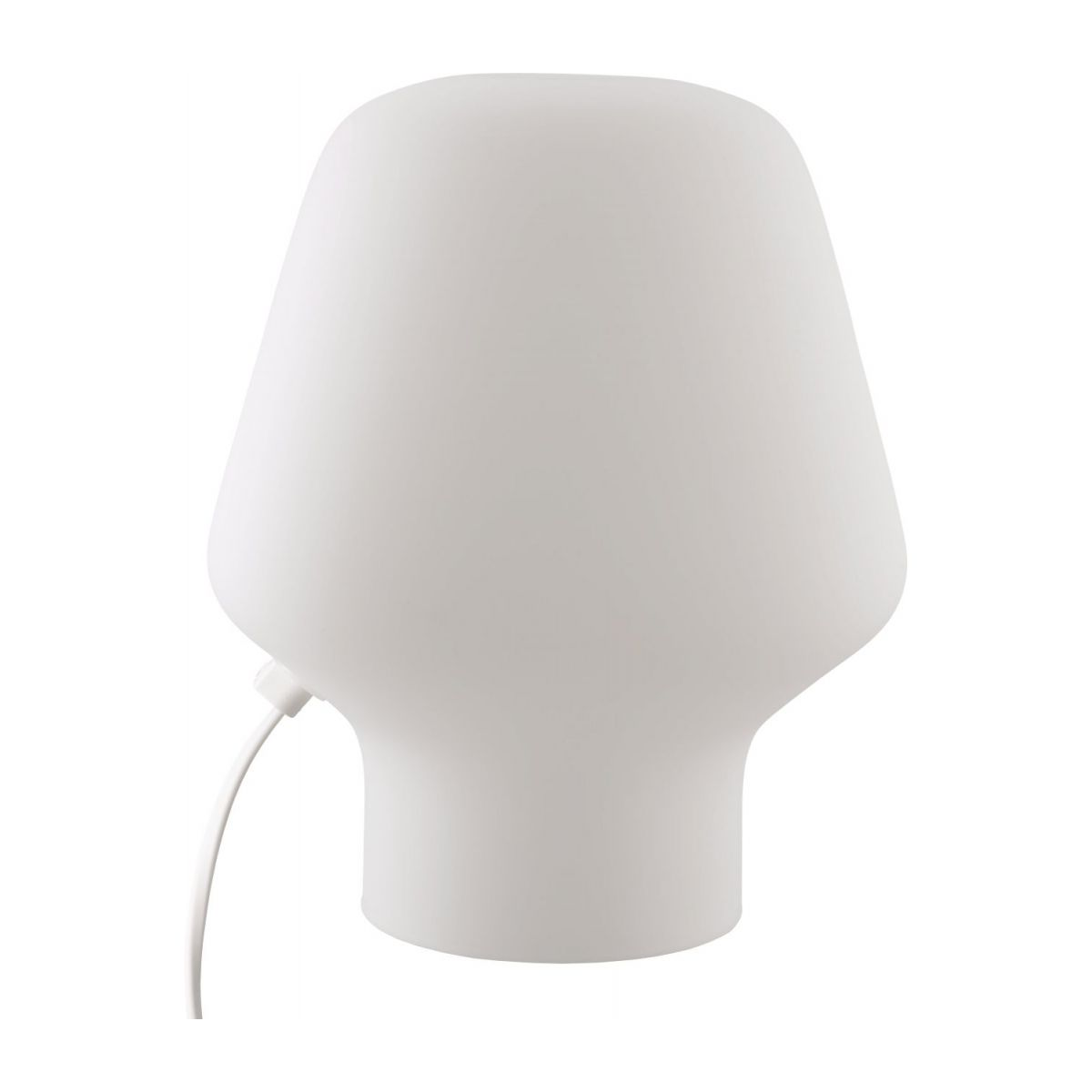 Small frosted glass table lamp n°4
