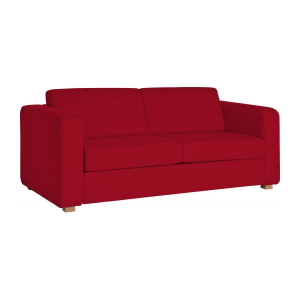Porto canap s canap 2 places convertible rouge tissu for Canape rouge 2 places