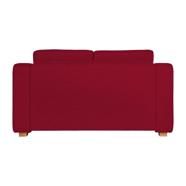 Porto canap s canap compact convertible rouge tissu habitat for Canape convertible profondeur 80 cm