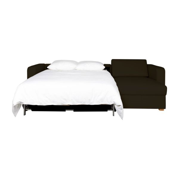 porto canap s canap d 39 angle convertible brun cuir habitat. Black Bedroom Furniture Sets. Home Design Ideas