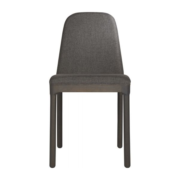 Chair in grey charcoal fabric n°2