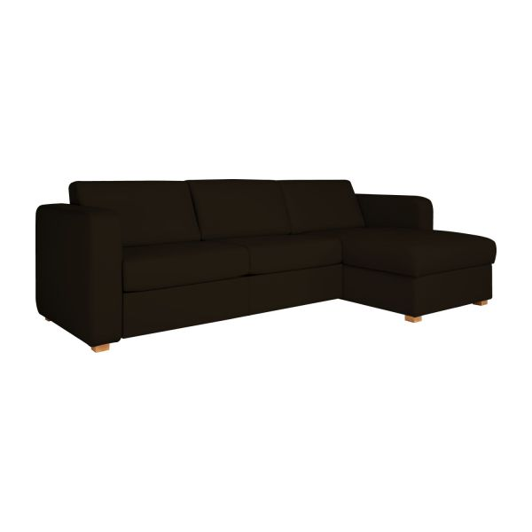 porto ii petit canap lit d 39 angle droit en cuir avec rangement habitat. Black Bedroom Furniture Sets. Home Design Ideas