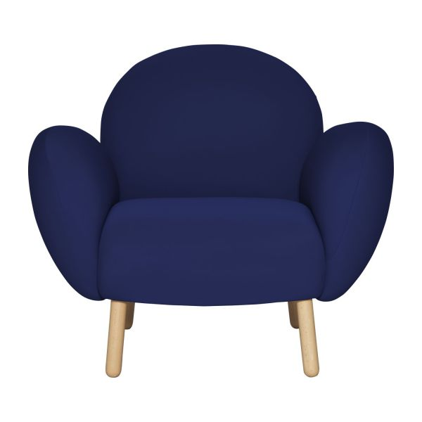 bumpy fauteuils fauteuil bleu marine tissu habitat. Black Bedroom Furniture Sets. Home Design Ideas