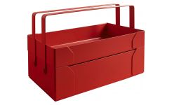 Red steel toolbox
