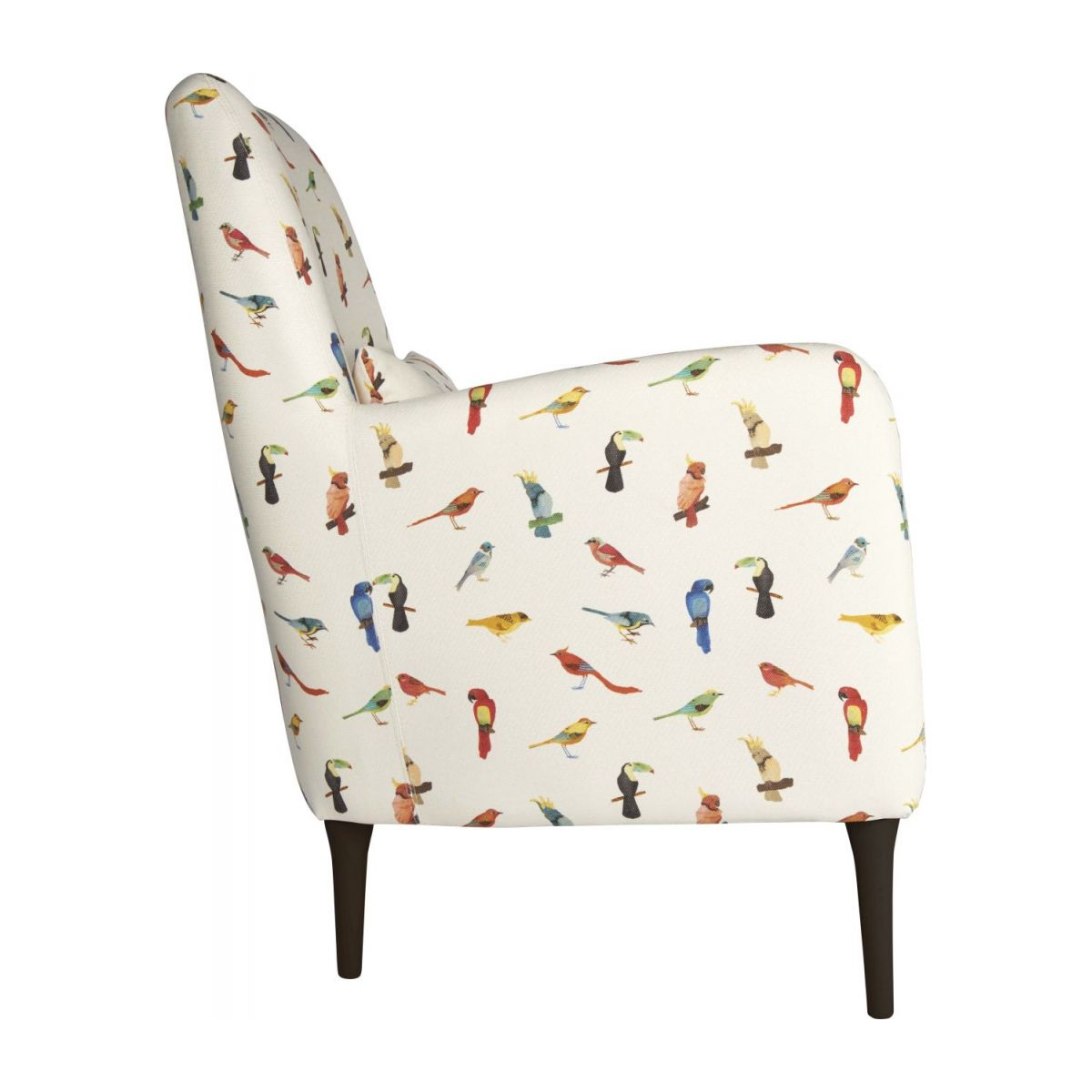 Fabric armchair, birds pattern n°5