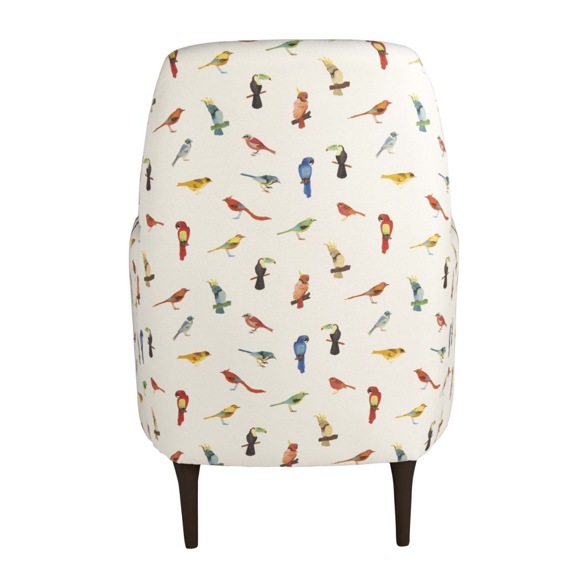 Fabric armchair, birds pattern n°4