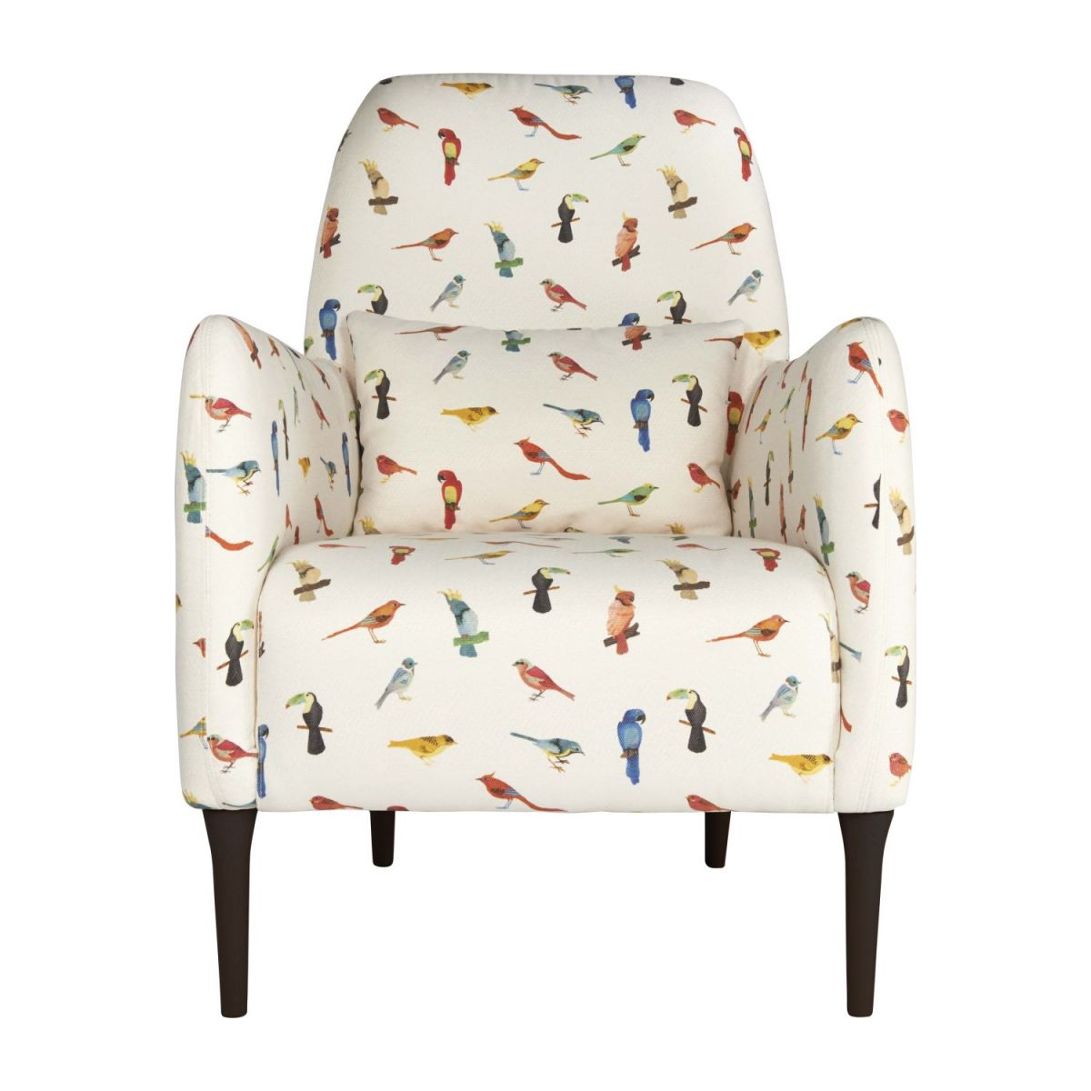 Fabric armchair, birds pattern n°3