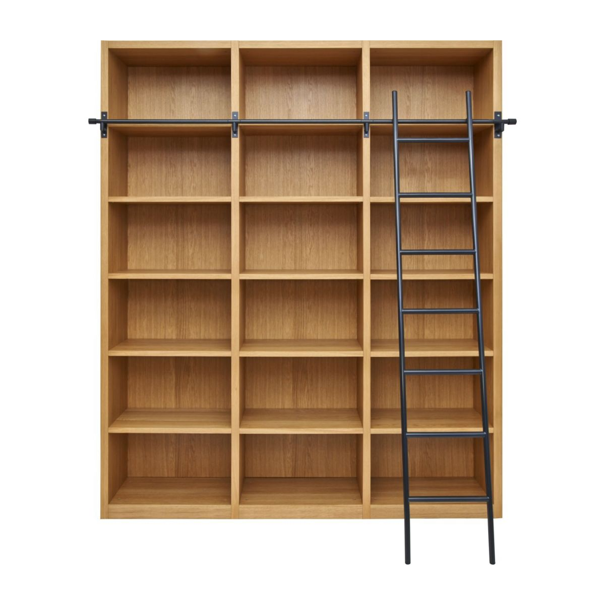 Wooden bookcase with ladder n°3