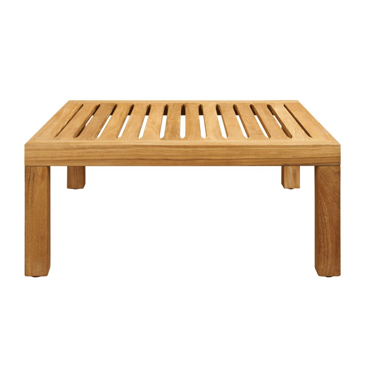 Table basse de jardin en teck -Naturel - 70 x 70 cm n°3