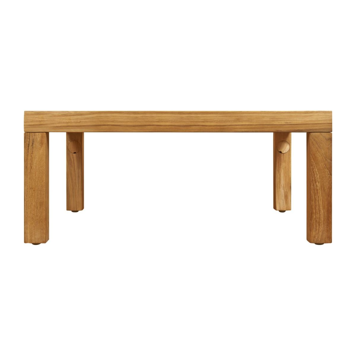Table basse de jardin en teck -Naturel - 70 x 70 cm n°4