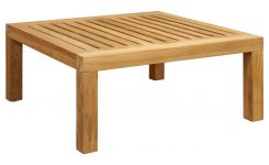 Table basse de jardin en teck -Naturel - 70 x 70 cm