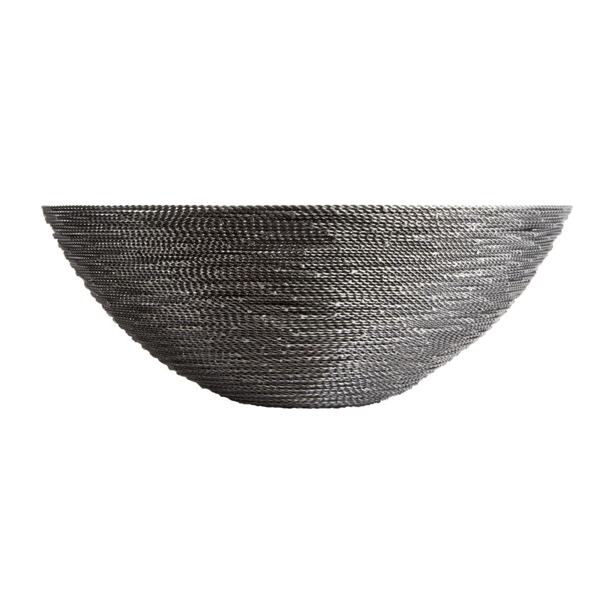 Large grey twisted wire bowl n°2