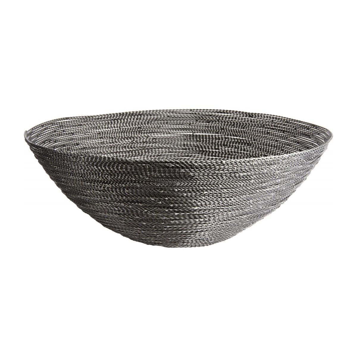Large grey twisted wire bowl n°1