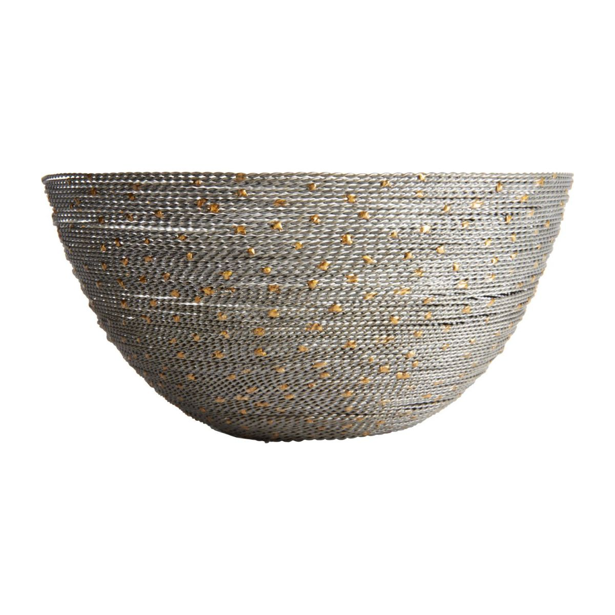Small gold and grey twisted wire bowl n°1