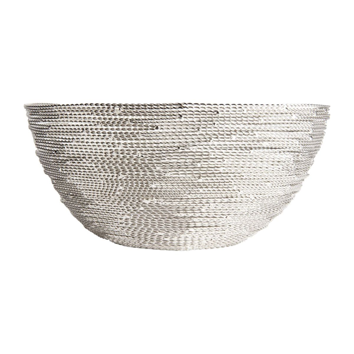 Small nickel twisted wire bowl n°2